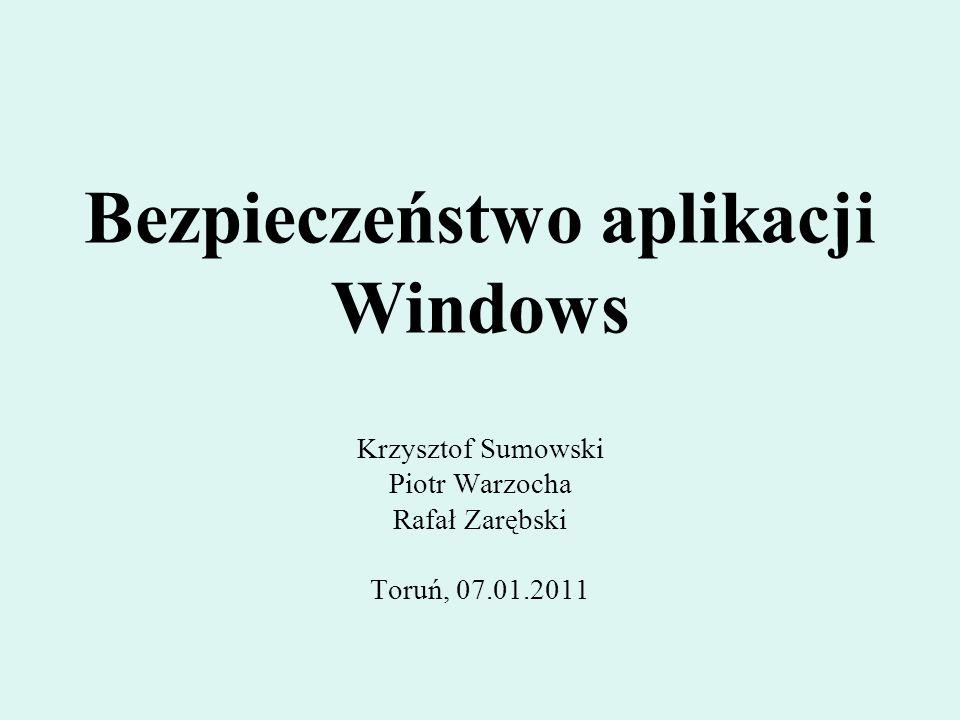 Bezpieczeństwo aplikacji Windows