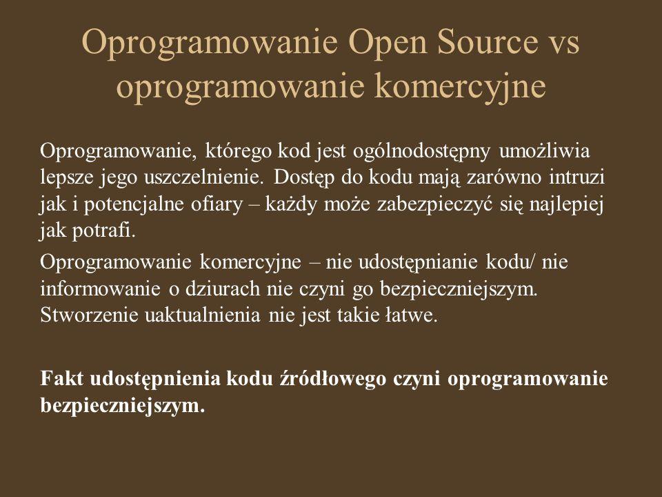 Oprogramowanie Open Source vs oprogramowanie komercyjne