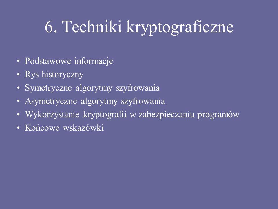6. Techniki kryptograficzne