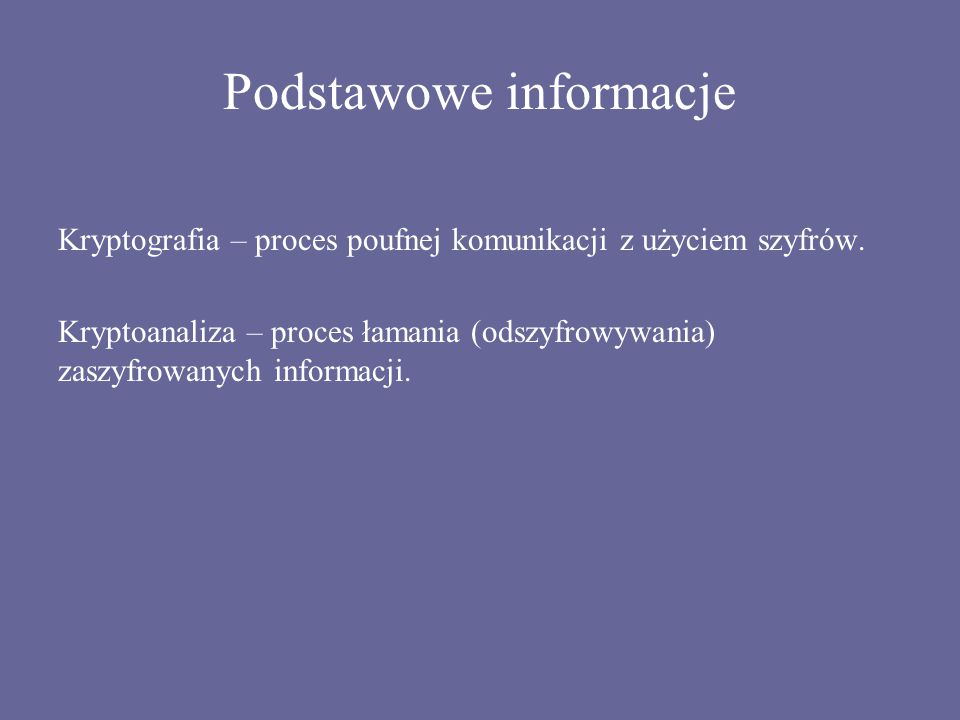 Podstawowe informacje