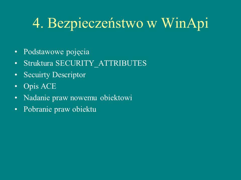 4. Bezpieczeństwo w WinApi