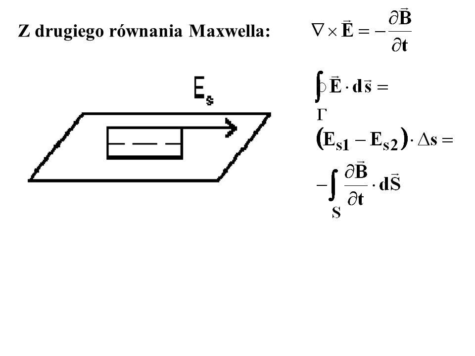 Z drugiego równania Maxwella: