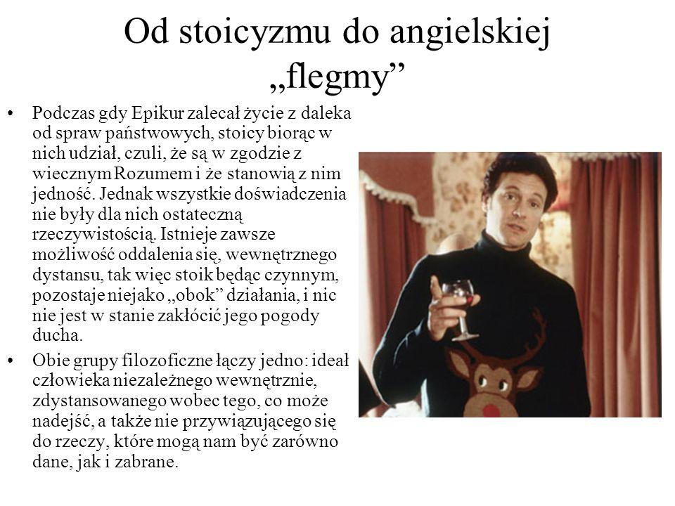 """Od stoicyzmu do angielskiej """"flegmy"""