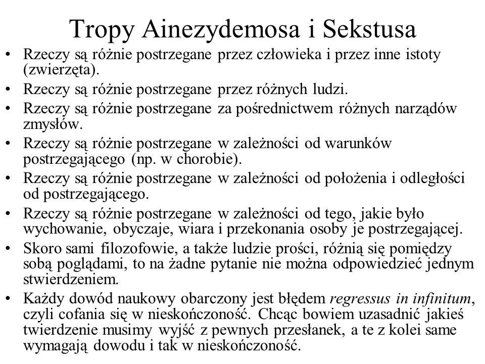 Tropy Ainezydemosa i Sekstusa