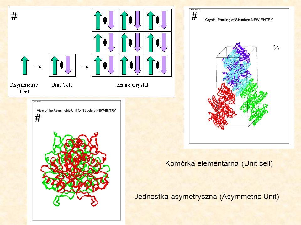 # # # Komórka elementarna (Unit cell)