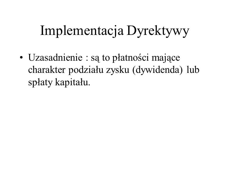Implementacja Dyrektywy