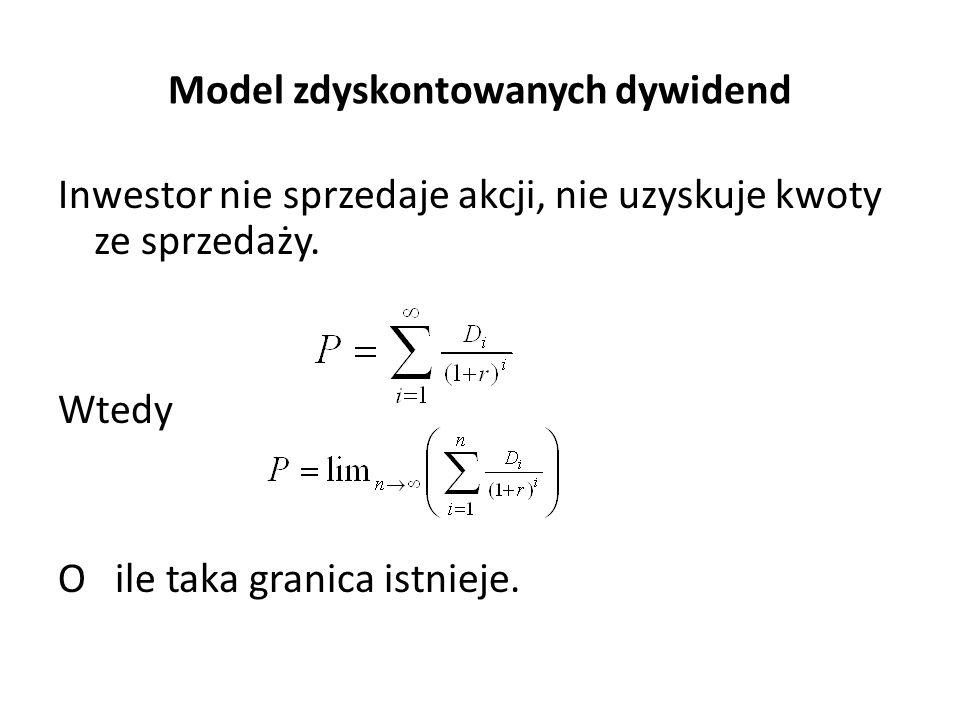 Model zdyskontowanych dywidend