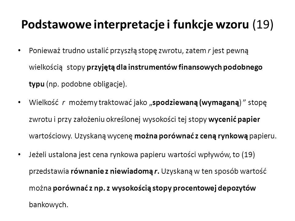 Podstawowe interpretacje i funkcje wzoru (19)