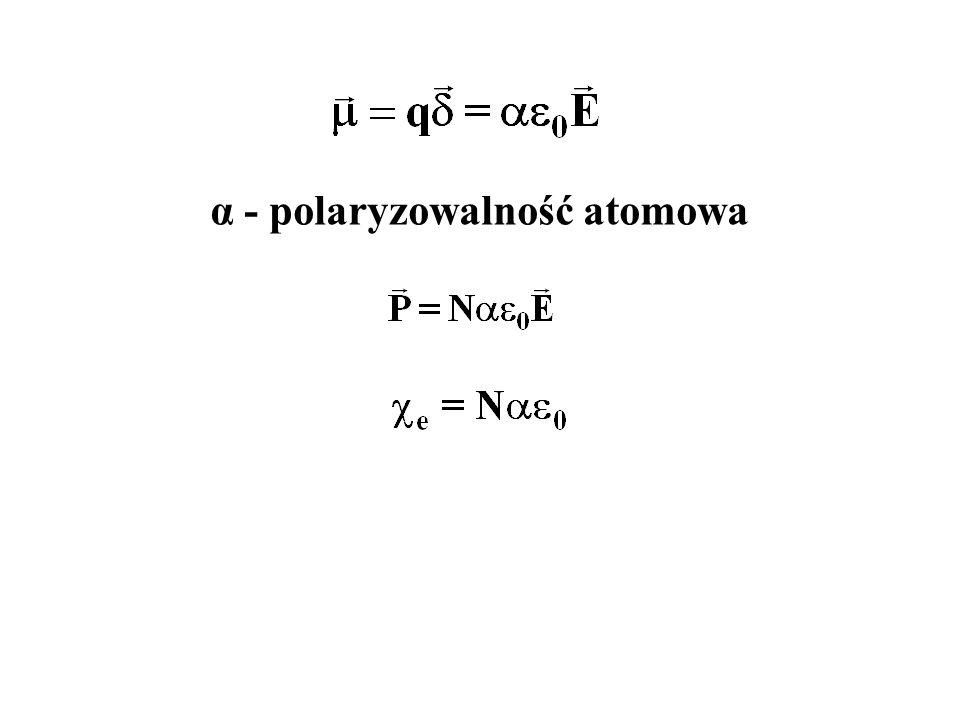 α - polaryzowalność atomowa