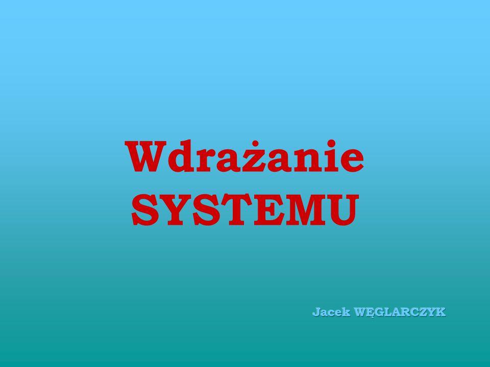 Wdrażanie SYSTEMU Jacek WĘGLARCZYK