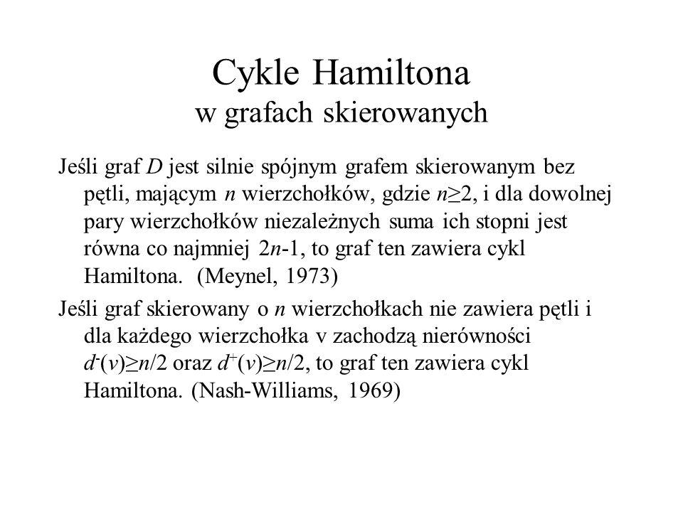 Cykle Hamiltona w grafach skierowanych