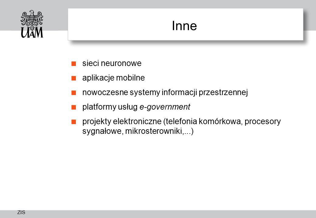 Inne sieci neuronowe aplikacje mobilne