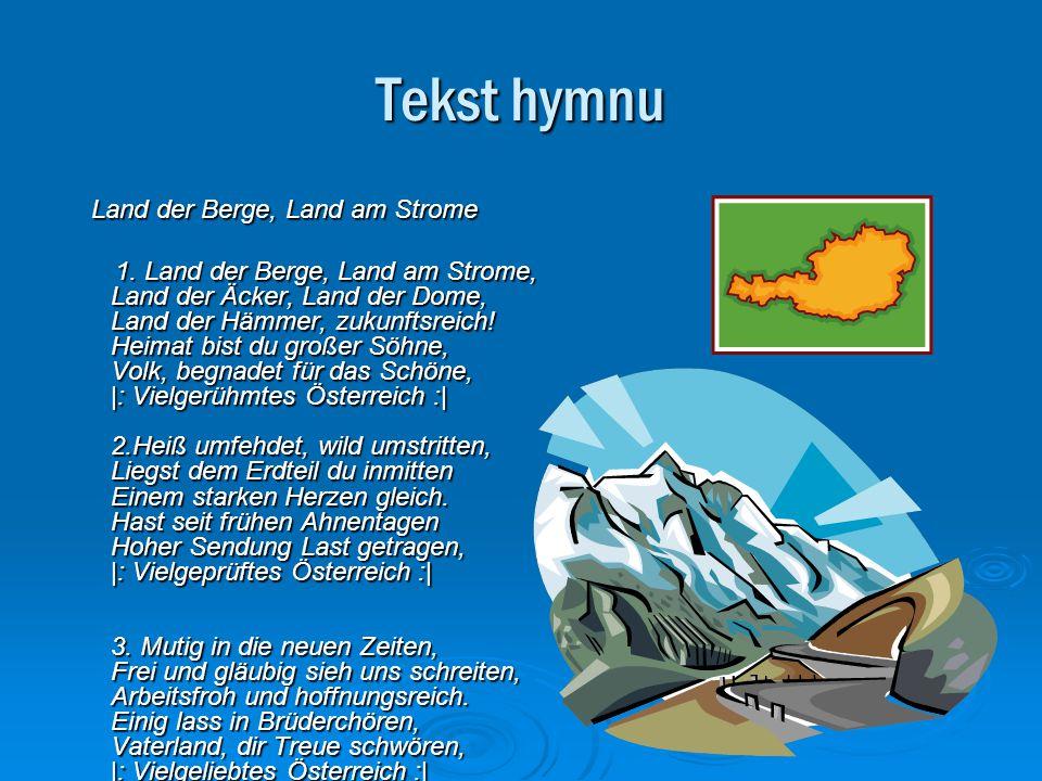 Tekst hymnu Land der Berge, Land am Strome.