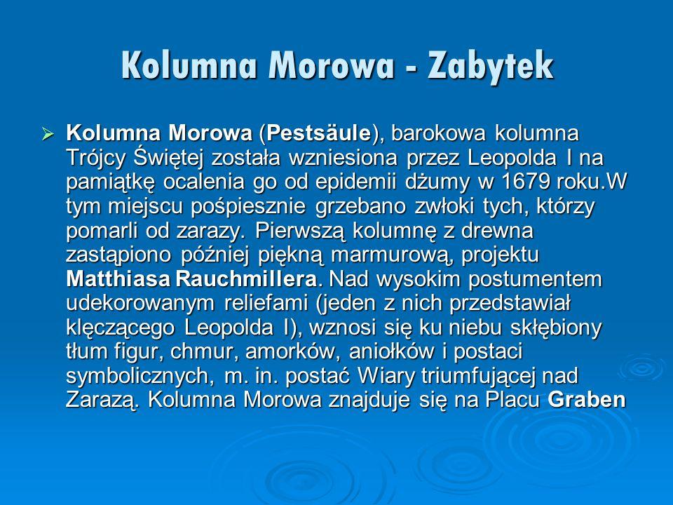 Kolumna Morowa - Zabytek