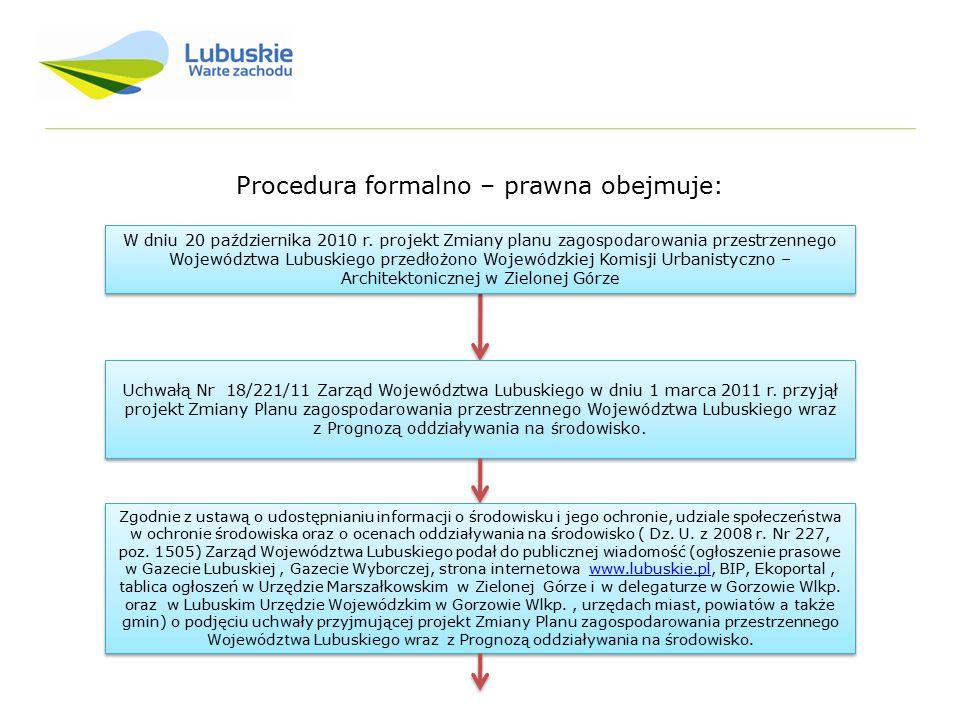 Procedura formalno – prawna obejmuje: