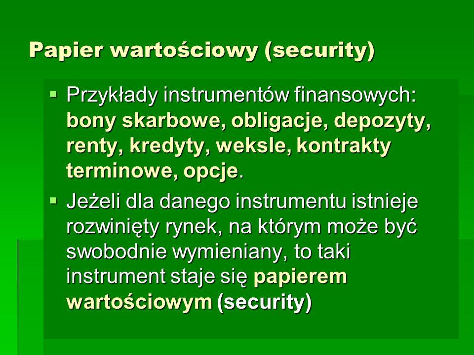 Papier wartościowy (security)