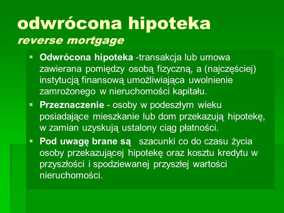 odwrócona hipoteka reverse mortgage