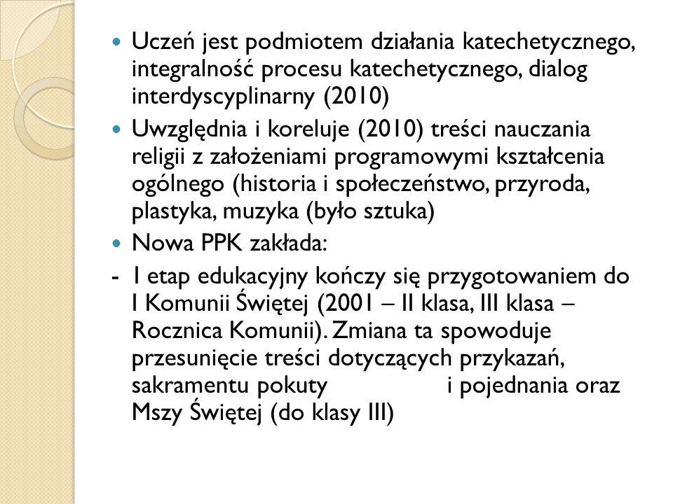 Uczeń jest podmiotem działania katechetycznego, integralność procesu katechetycznego, dialog interdyscyplinarny (2010)