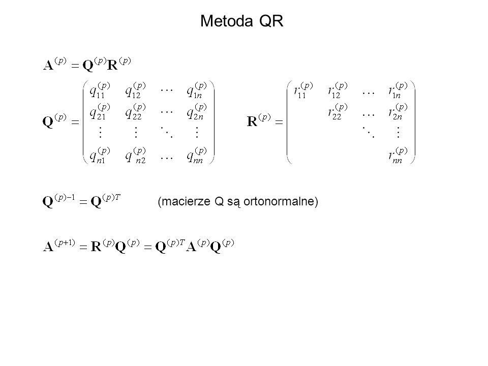 Metoda QR (macierze Q są ortonormalne)