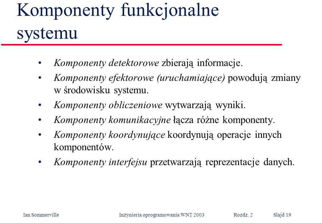 Komponenty funkcjonalne systemu