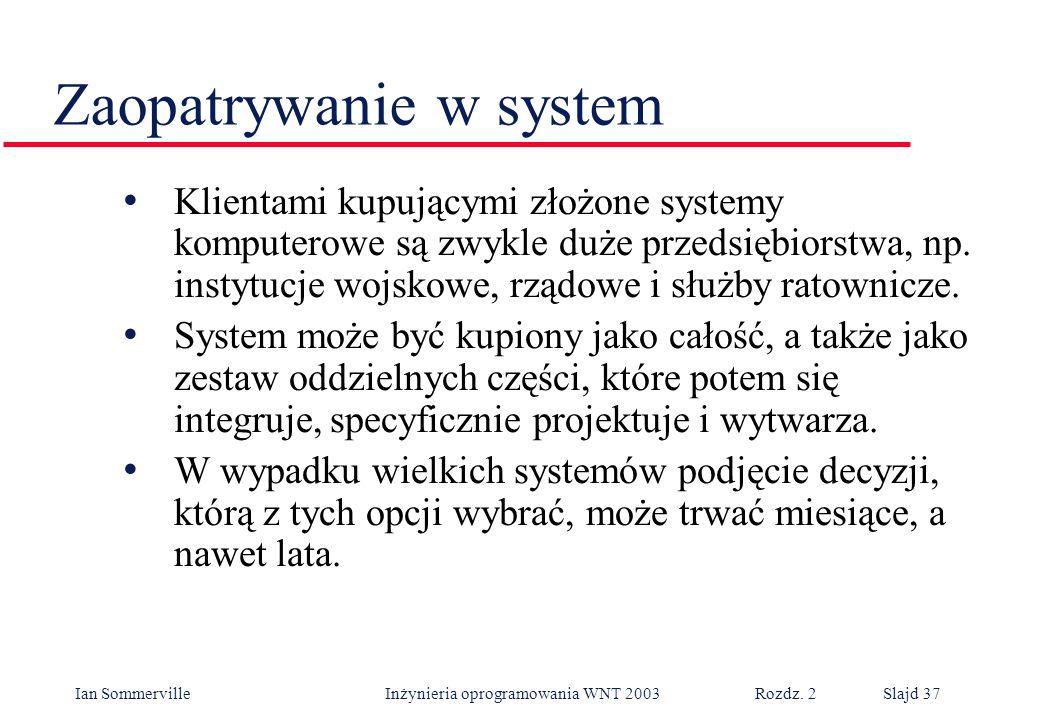 Zaopatrywanie w system