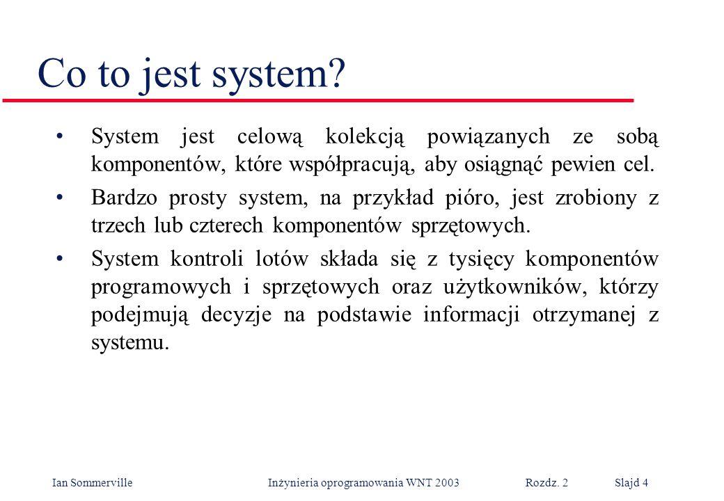 Co to jest system System jest celową kolekcją powiązanych ze sobą komponentów, które współpracują, aby osiągnąć pewien cel.
