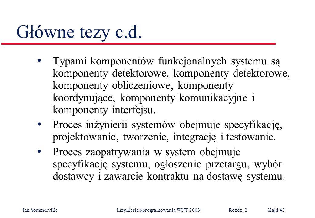 Główne tezy c.d.