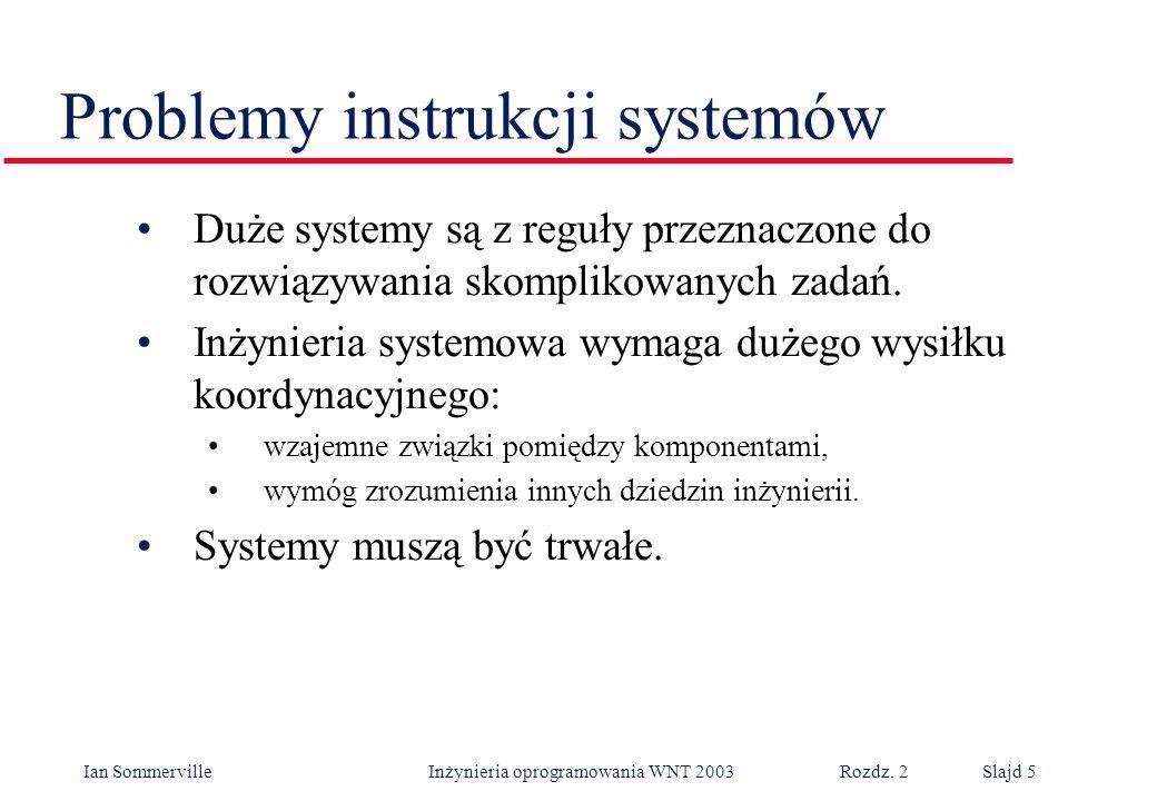 Problemy instrukcji systemów