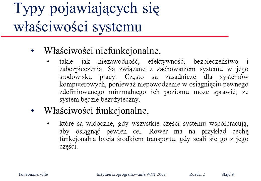 Typy pojawiających się właściwości systemu