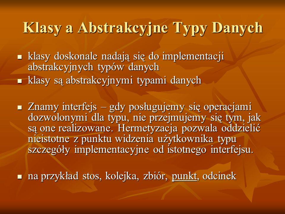 Klasy a Abstrakcyjne Typy Danych