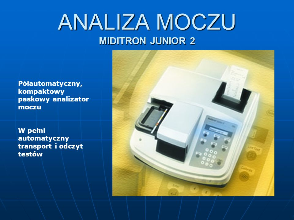 ANALIZA MOCZU MIDITRON JUNIOR 2
