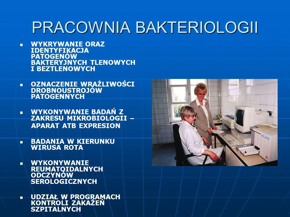 PRACOWNIA BAKTERIOLOGII