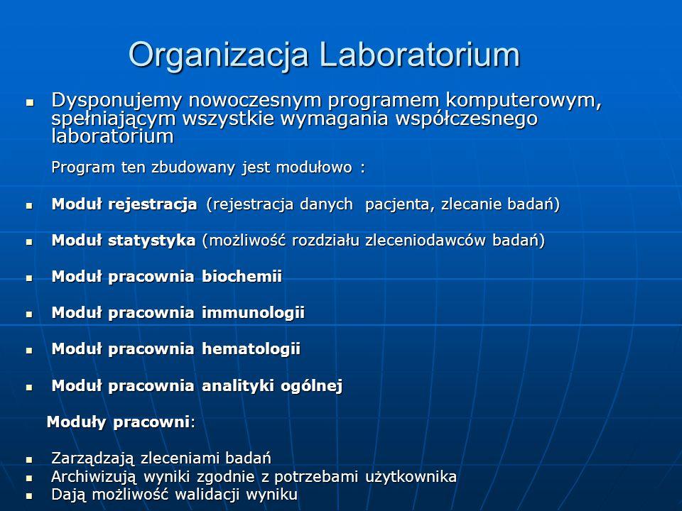Organizacja Laboratorium