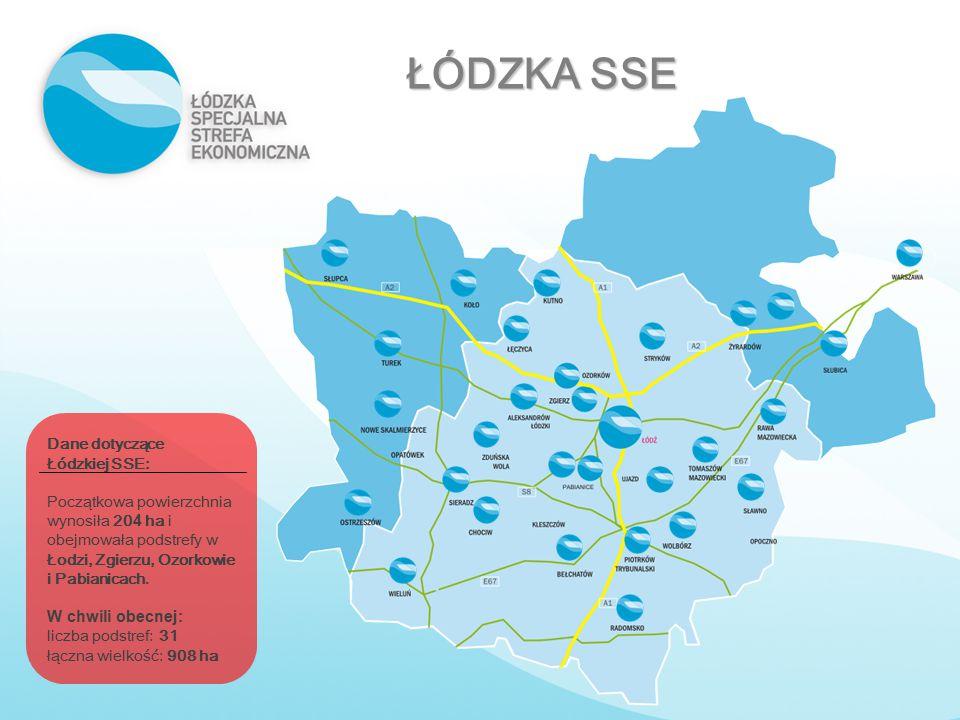 ŁÓDZKA SSE Dane dotyczące Łódzkiej SSE: