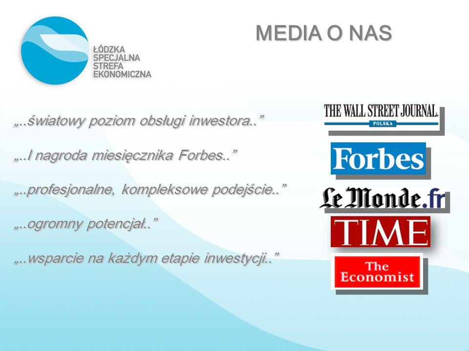 """MEDIA O NAS """"..światowy poziom obsługi inwestora.."""
