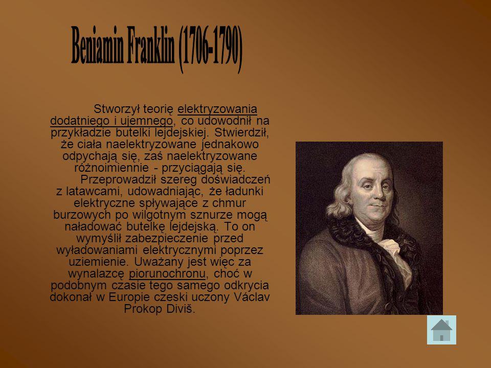 Beniamin Franklin (1706-1790)