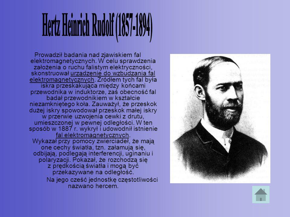 Hertz Heinrich Rudolf (1857-1894)