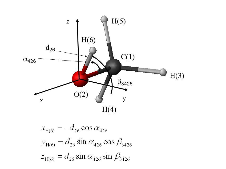 H(5) z H(6) d26 C(1) a426 H(3) b3426 O(2) y x H(4)