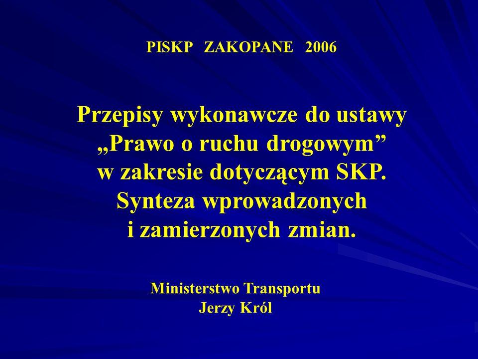 Ministerstwo Transportu Jerzy Król