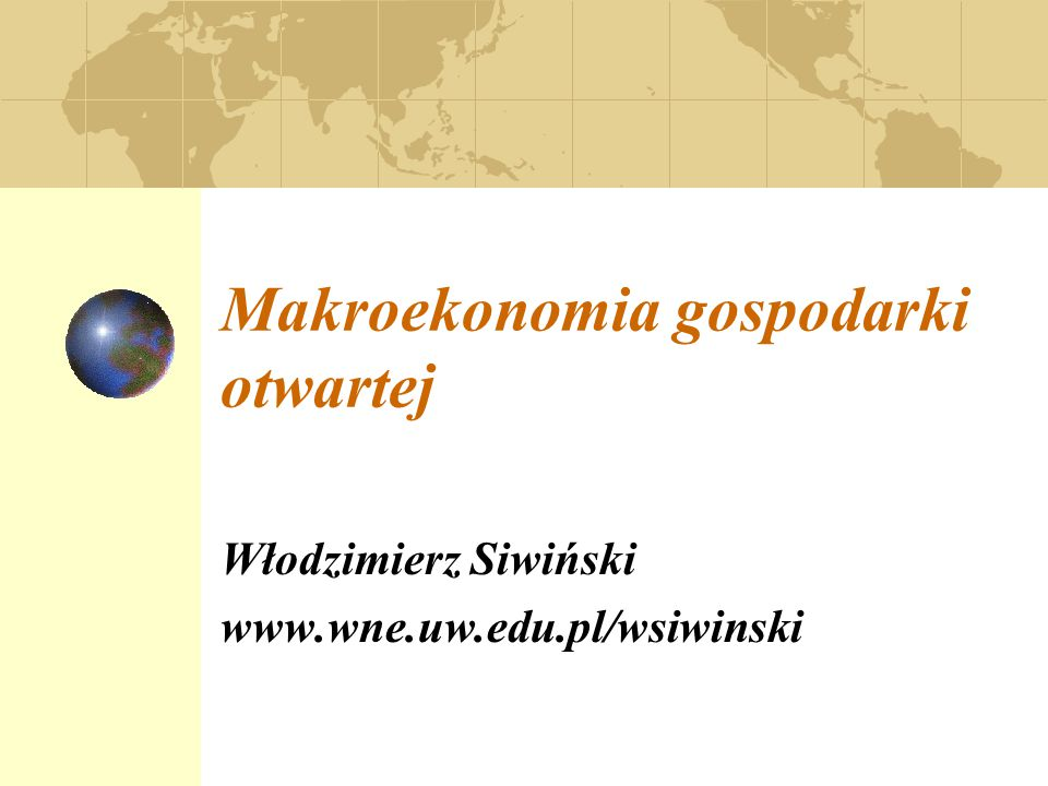 Makroekonomia gospodarki otwartej