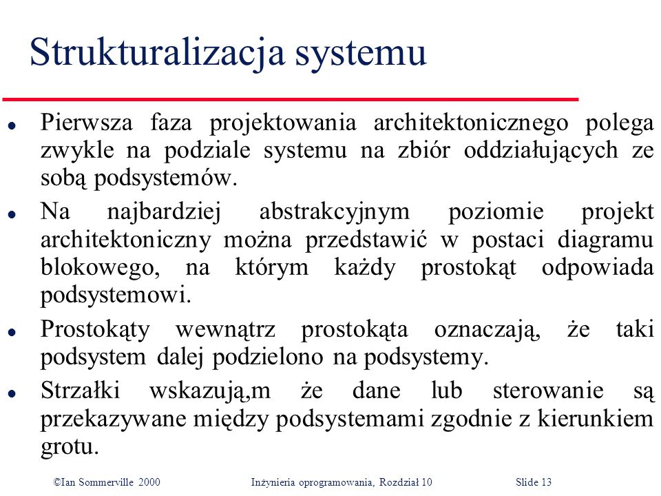 Strukturalizacja systemu