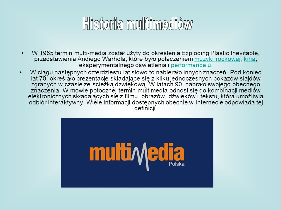 Historia multimediów