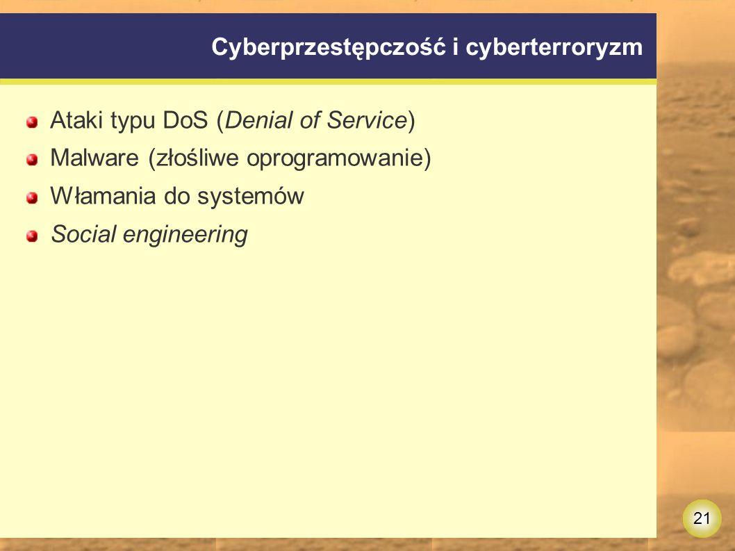 Cyberprzestępczość i cyberterroryzm