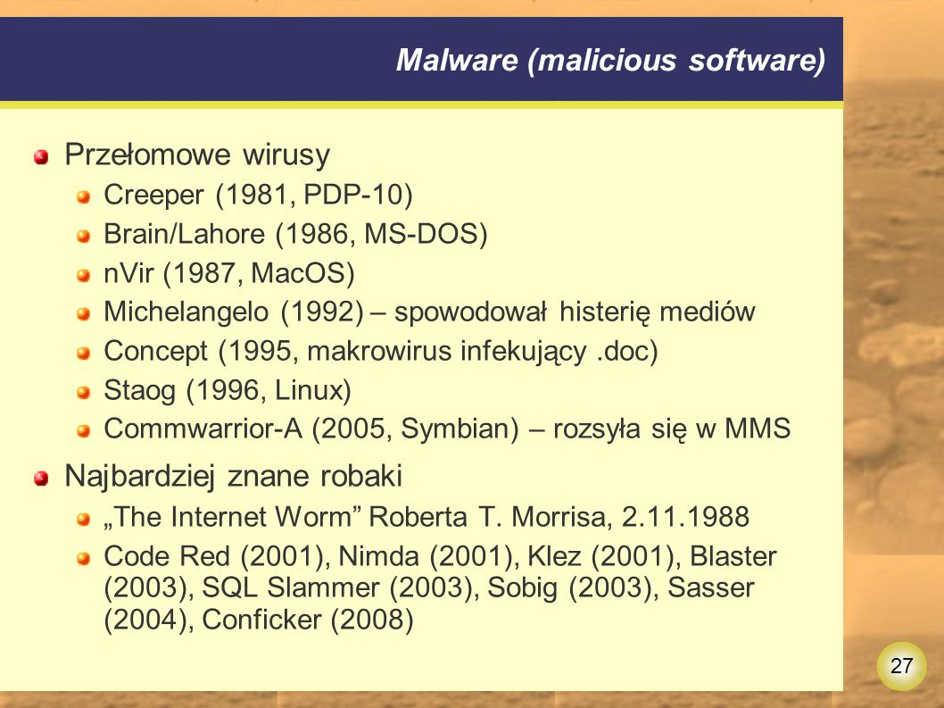 Malware (malicious software)
