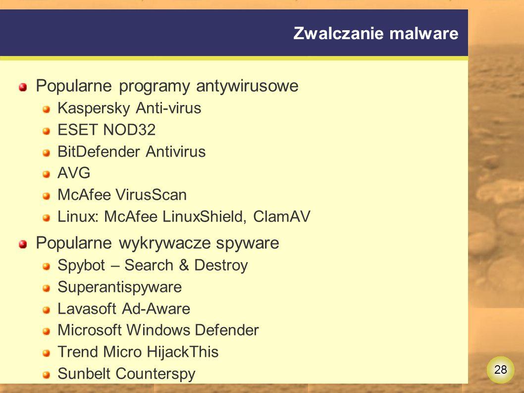 Popularne programy antywirusowe