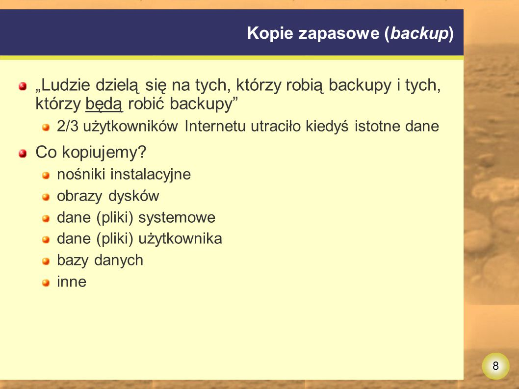 Kopie zapasowe (backup)