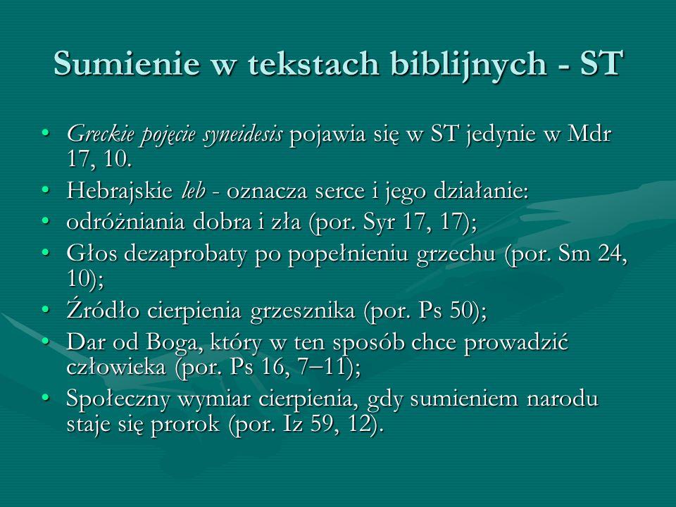 Sumienie w tekstach biblijnych - ST