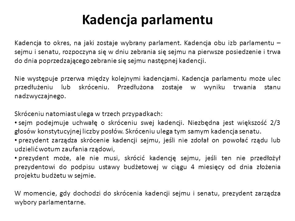 Kadencja parlamentu