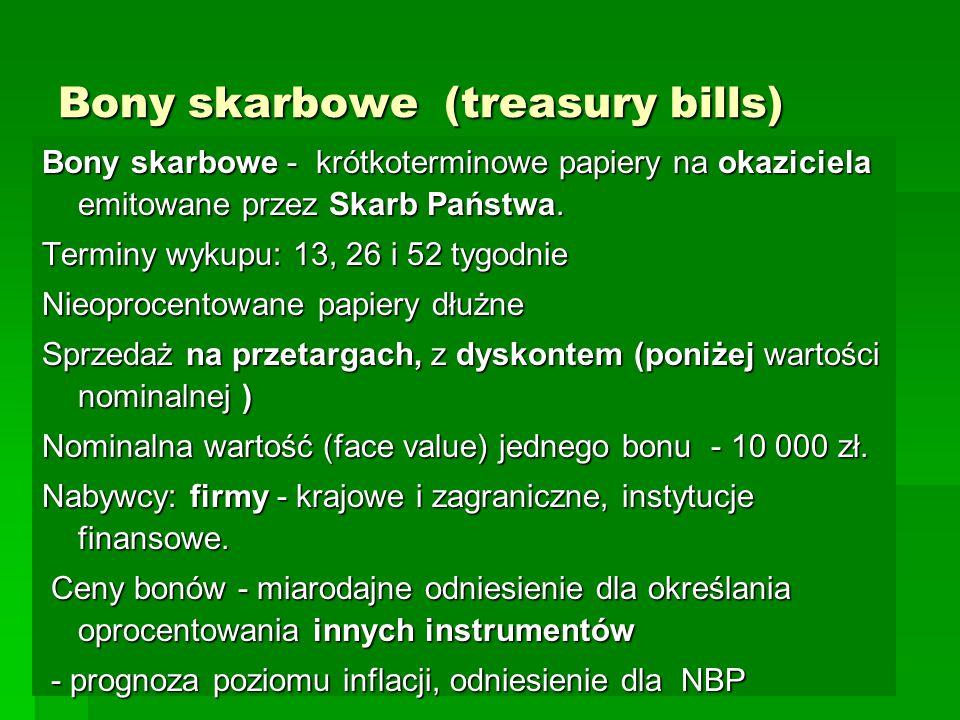 Bony skarbowe (treasury bills)