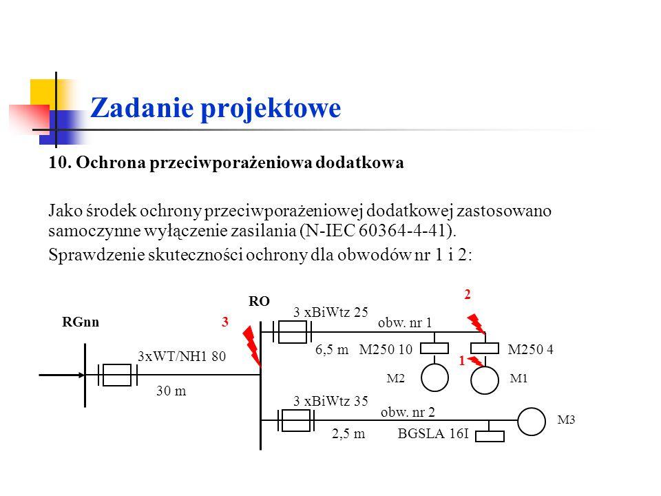 Zadanie projektowe 10. Ochrona przeciwporażeniowa dodatkowa.